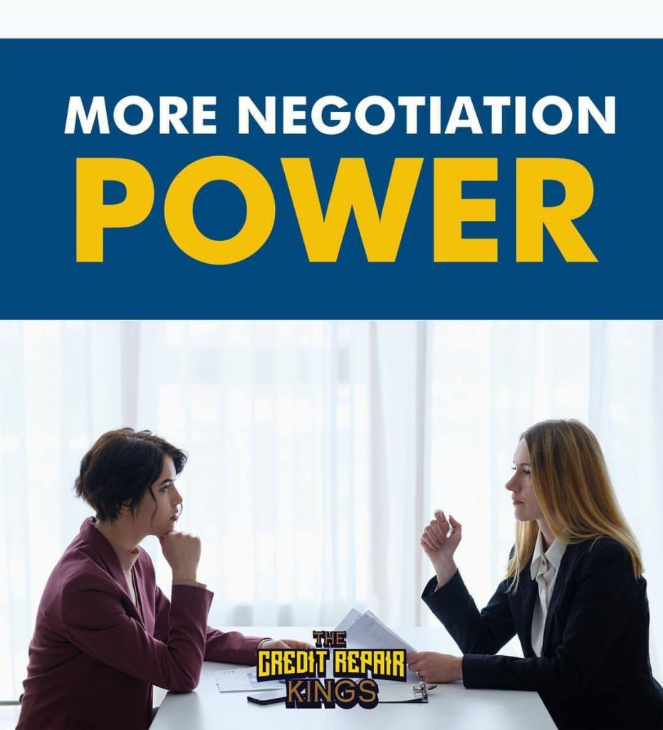 More negotiating power: